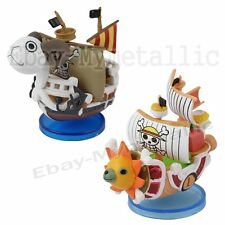 2pcs Set One Piece Straw Hat Pirate Going Meri & Thousand Sunny Mini Pirate Ship