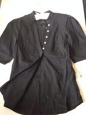 LaROK Black Cotton Shirt Slim Button Down S Small