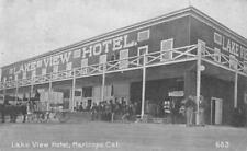 Maricopa, California LAKE VIEW HOTEL Street Scene Kern Co c1908 Vintage Postcard