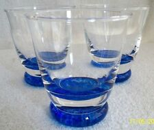 Table Tumblers. Whisky Glasses . Cobalt and Clear. Caithness ?