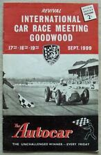 GOODWOOD REVIVAL Sept 1999 INTL CAR RACE MEETING Small Official Programme
