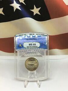 2005-P U.S 25C, 25 Cents West Virginia Satin Finish ANACS Certified