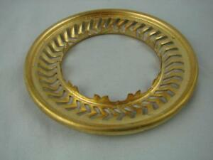 """NEW OLD STOCK, A BRASS DUPLEX BURNER 4"""" SHADE GALLERY RING, PIERCED DETAIL"""