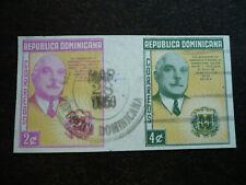 Stamps - Dominican Republic - Scott# 497-498 Imperf