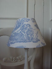 ** LAURA ASHLEY TABLE LAMPSHADE**TOILE DE JOUY DELPHINIUM FRENCH STYLE CHIC