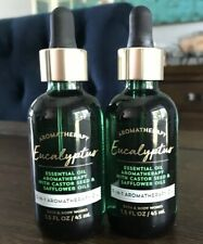 2 BATH & BODY WORKS EUCALYPTUS ESSENTIAL OIL 3 IN 1 AROMATHERAPY CASTOR SEED 1.5