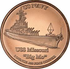 1 oz Copper Round - USS Missouri