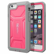 For iPhone 6 Plus / 6S Plus Shockproof Pink Case w/ Built-in Screen Protector