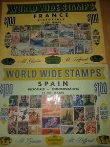 23 Packs of Stamps In Evelope / Album || World Wide Stamps Collection
