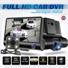 4'' Dual Lens HD 1080P Car DVR Rearview Video Dash Cam Recorder Camera G-sensor
