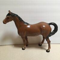 "Vintage Large Cast Iron Hubley Chestnut Horse 10 1/2"" Tall x 12"" - EUC"