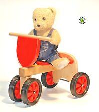 Sonderangebot  Laufrad aus Holz ROT Gummiräder von LARIX TOYS