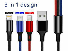 3 in1 USB Charging Cable Multi-Function Charger Cord Line Universal fast charger