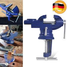 Mini Schraubstock 80mm drehbar 360° Tischschraubstock mitAmboss Bankschraubstock