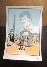 CORIA. Bob Morane. Sérigraphie éd. Loup n°50/99 signée - Ft 35 x 50 cm.