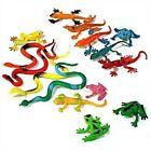 Figurines de jeux Animaux De 15 pièces Set Reptiles: Serpents Geckos et