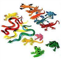 Spielfiguren Tiere  15er Set Reptilien Schlangen Geckos und Frösche, Nr. 68330