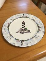 Totally Today China Coastal Lighthouse Nautical Theme Dinner Plate 10.5 Inch