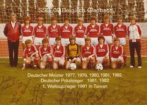 SSG 09 Bergisch Gladbach, Damen, 80er (15-16x Original sign. Mannschaftsbild)