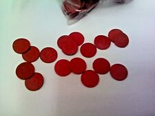 Missouri 1 Sales Tax Red Plastic Token Qty, 100 Tokens