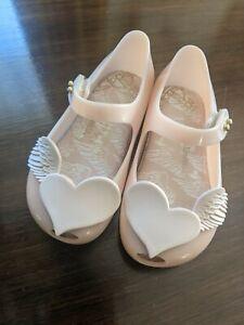 MINI MELISSA * Vivienne Westwood Girl Jelly Dusty Pink Hearts Sz 22/23 (USA 7)