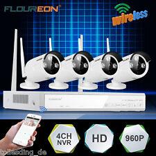 FLOUREON Wireless Wifi 1080P DVR NVR Outdoor 960P Camera CCTV Security System EU