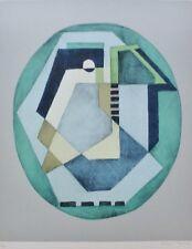 "Mario Radice ""Compositione astratta verde"" Hand Signed Lithograph Italian Artist"