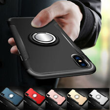 For iPhone XR XS Max Hybrid Magnetic Kickstand Ring Holder Case Hard Armor Cover