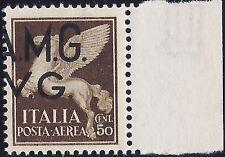 TRIESTE A - AMG-VG POSTA AEREA 1945 - 50 Cent. VARIETA' LUSSO