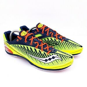Saucony Kilkenny Xc5 Spike Mens Size 12 Neon Colors Cross Country Track Cleats