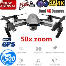 Profession GPS Drone with 4K HD Dual Camera Wide Angle Anti-shake Double GPS WIF