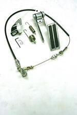 "Universal Aluminum 2 Pad Gas Pedal + 24"" Black Throttle Cable Bracket Spring Kit"