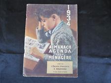 Almanach 1934 ! Agenda de la ménagère !  C30