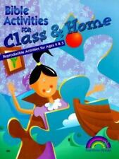 BIBLE ACTIVITIES FOR CLASS AND HOME -- AGES 4 & 5