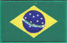 "BRAZIL FLAG (2 1/2"") Iron On Patch World Cup Soccer"