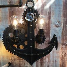 Vintage Retro Industrial Wall Light Anchor with Rotating Gears Modern Chandelier