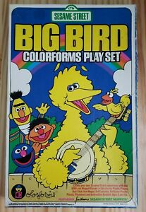 Vintage 1986 Sesame Street Big Bird Colorforms Play Set