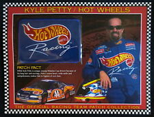 KYLE PETTY / HOT WHEELS MATTEL Willabee Ward NASCAR RACING TEAM PATCH Info Card