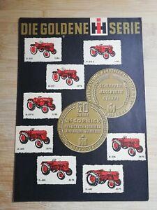 Orig. Schlepper Prospekt IHC Mc Cormick Goldene Serie D Serie / IH Traktor