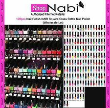 108pcs Nail Polish NABI Square Glass Bottle Nail Polish(Wholesale Lot)