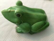 Large Green Frog Figurine measures 13x9x7 Great for Porch/Patio/Other