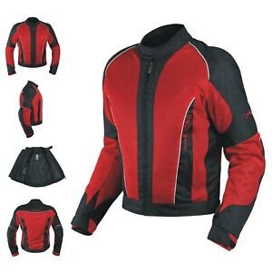 CE Armour Mesh Summer Tex Jacket Apparel Motorcycle Textile Sonicmoto Red