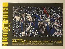 Gilbert y George, Raro cartel litográfico, Japón, 1997