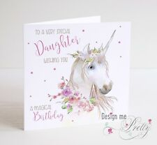 UNICORN Birthday Card - Girls Daughter Granddaughter Sister Niece Children's