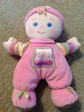 "Fisher Price 11"" Brilliant Basics Pink Plush Lovey Baby's 1st Doll"