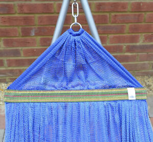 Blue Premium Garden Camping  2-Layers Hammock - Hang Bed Outdoor Travel