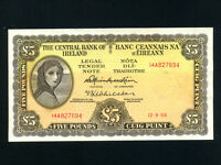Ireland:P-65a,5 Pounds,1968 * Lady Hazel Lavery * VF *