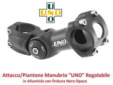 0571 Attacco Manubrio UNO Regolabile Alluminio Nero per bici 20-24-26 Fat Bike