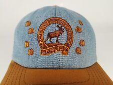 Moose Legion Service Denim Hat Cap Degree of Service Tracks Hoof Snapback Blue