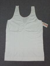 J.C.BEST: Size: L. (12-14). Shapewear - WHITE Firm-Support, SeamFree, Tank-Top